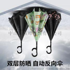 江西广告伞定制找顶峰-反向双层太阳防晒