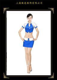 春夏新款长袖促销服装 珠宝首饰促销职业装 热销促销服定制