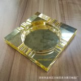 廠家直銷歐式客廳菸灰缸 亞克力方形透明菸灰缸 玻璃煙盅定製批發