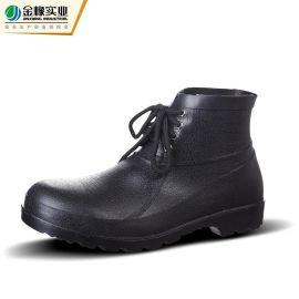 雨鞋PVC时尚雨鞋劳保低帮钢头男雨靴 耐酸碱水鞋工矿靴833
