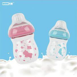 宽口高硼硅玻璃防爆防摔奶瓶 晶钻玻璃新生儿母婴用品
