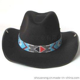 手工串珠帽箍 米珠编织帽箍 手工串珠帽沿装饰品