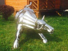 不锈钢雕塑厂家 供应牛不锈钢镜面雕塑 动物雕塑 公园景观雕塑
