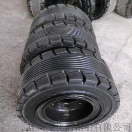 本厂专业生产5T叉车机械实心轮胎28x12.5-15及配套轮辋