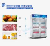 银都冰箱饮料展示柜—三门冷藏柜工程款直冷铜管冰柜