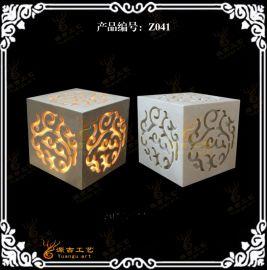 砂岩灯 方形地灯透光灯 人造石材灯 中东石材灯