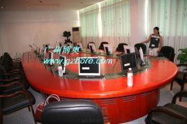 广州博奥商务大型液晶屏升降会议桌
