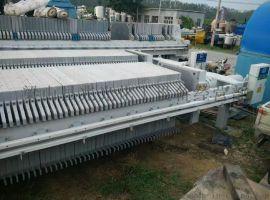二手京津程控隔膜厢式自动拉板压滤机