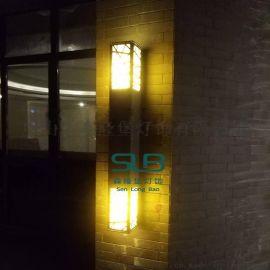 长方形壁灯不锈钢外墙仿云石壁灯户外防水小区酒店门口壁挂灯