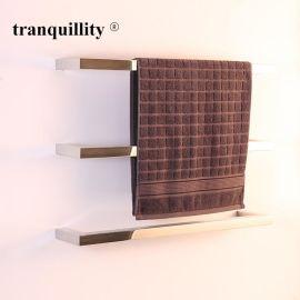 出口304不锈钢单杆电热毛巾架 不锈钢电热浴巾架