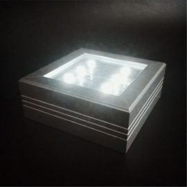 铝材方形100MM太阳能节能LED地砖灯抗压免电费