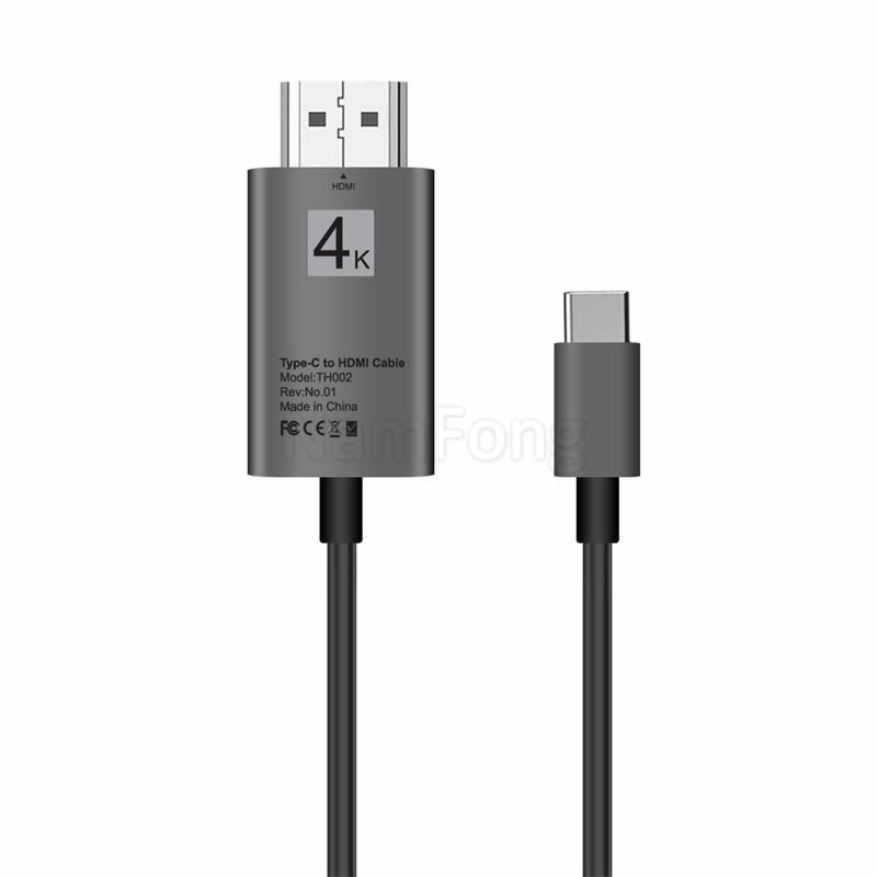 TYPE C转HDMI 铝合金**清视频转换线