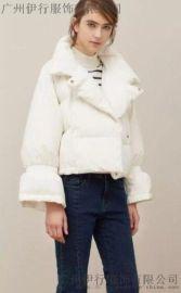 朗文斯汀18秋冬呢子中长款大衣品牌**货源