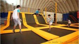 蹦床加踢墙球区花式灌篮区滑索魔鬼滑梯蹦床乐园