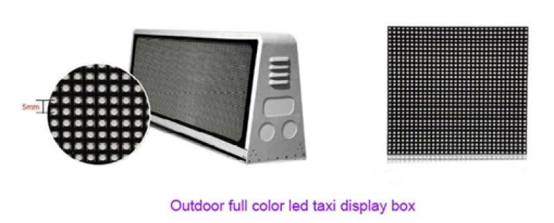 的士车顶屏 车顶广告屏 出租车双面led显示屏