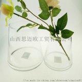 廠家直銷簡約花瓶  透明玻璃梯形插花器 居家擺件