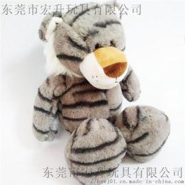 动物毛绒玩具老虎可来图打样设计