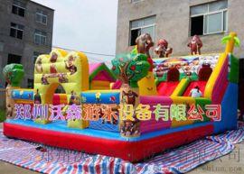 山东聊城广场大型充气城堡滑滑梯投资多少钱