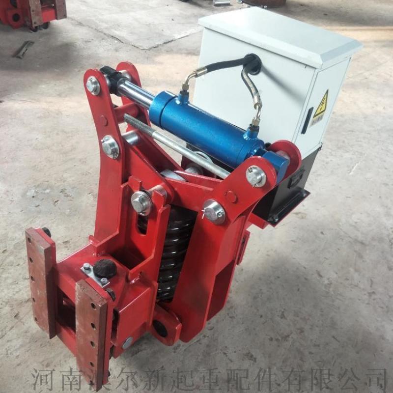 龙门吊驻刹夹轨器 防风弹簧液压夹轨器