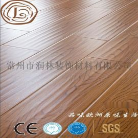 12毫米手抓波浪木地板强化乙烯基地板木供应厂家