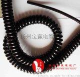 气动升降杆螺旋电缆KM7*1.5移动照明车螺旋电缆弹簧电线厂家