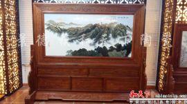 陶瓷瓷板畫大型酒店掛飾壁畫