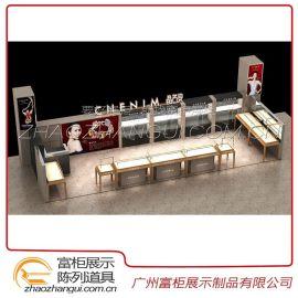 广州展柜厂专业设计定做欧式 木质烤漆 珠宝 精品橱柜