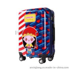 巨龙箱包pc040卡通印花20寸拉杆箱 pc行李箱登机箱