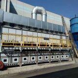 过滤吸附脱附催化燃烧设备处理油箱喷漆废气的过程