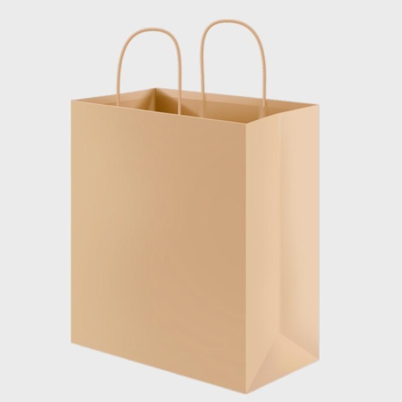 供应**牛皮纸方底手提袋购物礼品包装袋厂家直销