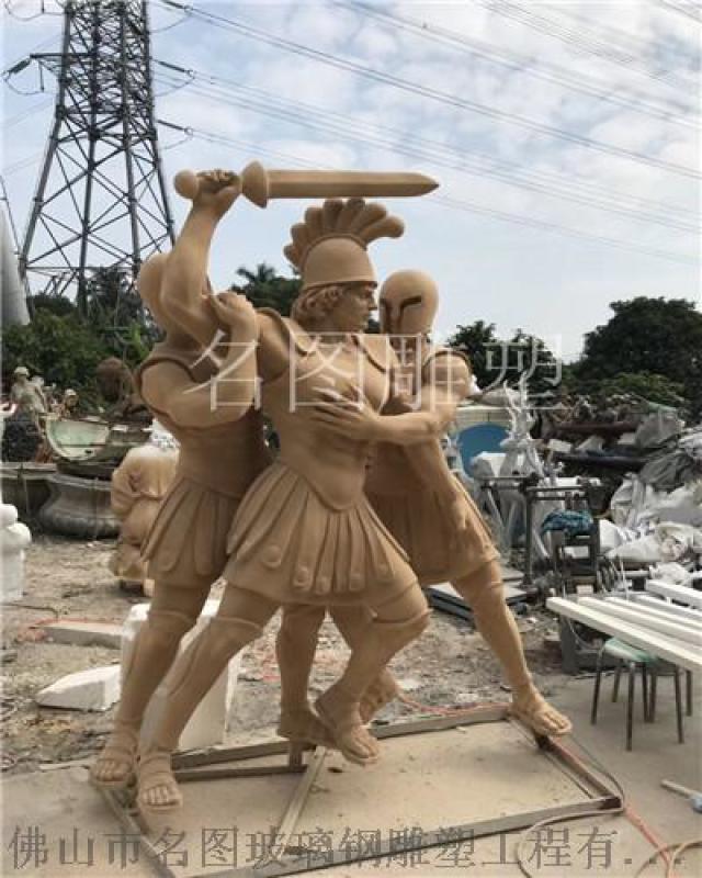 商業街人物雕塑擺件、玻璃鋼人物雕塑廠家定做
