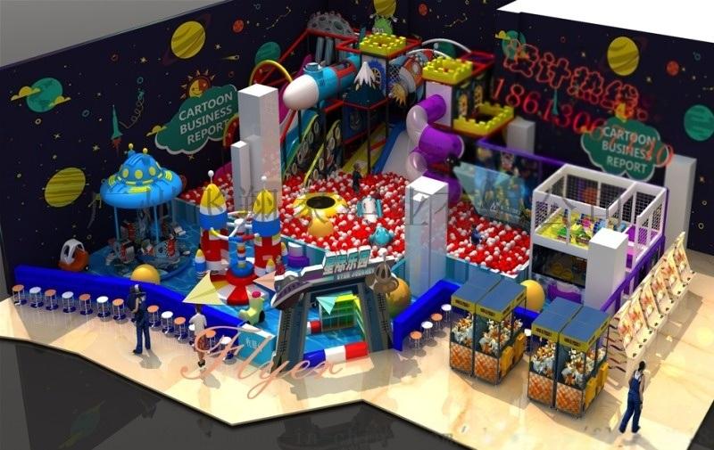 新型太空系列淘气堡 儿童乐园设备 广州飞翔家太空系列淘气堡