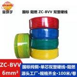 金环宇国标电线阻燃ZC-BVV6平方单芯双层皮硬装修主电线厂家直供