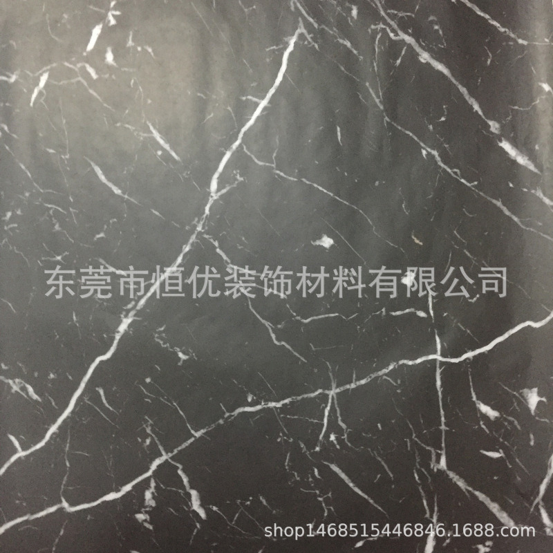 厂家直销 石材厂台面用仿大理石宝丽纸 黑白根 爵士白