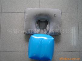 供應 充氣植絨枕頭 旅行枕