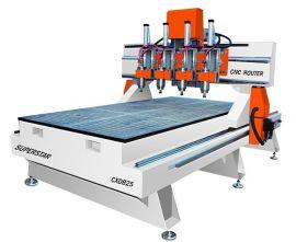 超星M25四头切换木工雕刻机 数控高速木工雕刻机