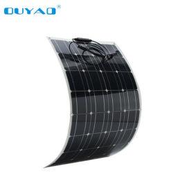 100瓦半柔性太阳能板 厂家直销半柔性太阳能板