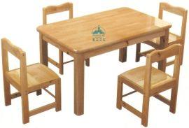 广州幼儿园家具厂家 专业生产直销幼儿桌椅 木质桌椅 四人桌