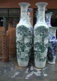 订制手绘陶瓷大花瓶 青花瓷大花瓶厂家