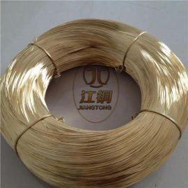 H65黄铜丝 国标黄铜丝 优质黄铜线 插头黄铜线 黄铜扁线加工