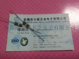 厂价直销供应3T3.15A 玻璃管保险丝双帽引线