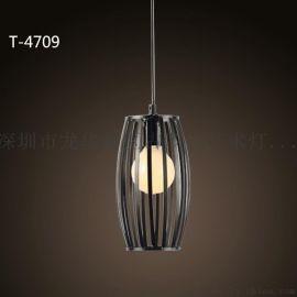 现代个性创意吊灯咖啡厅酒吧台餐厅卧室灯 铁艺怀旧灯饰4409