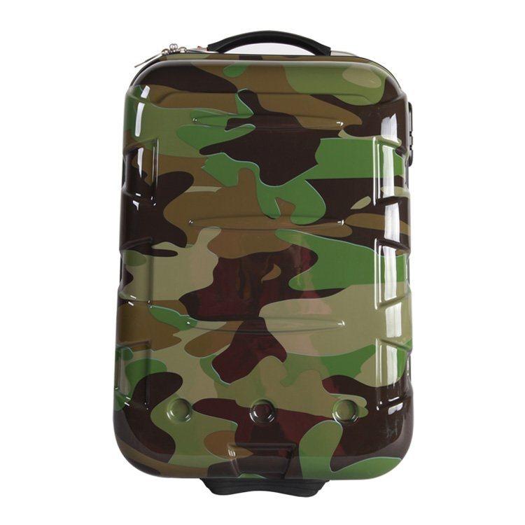 19寸迷彩拉链ABS+PC拉杆箱 行李箱 旅行箱 航空箱