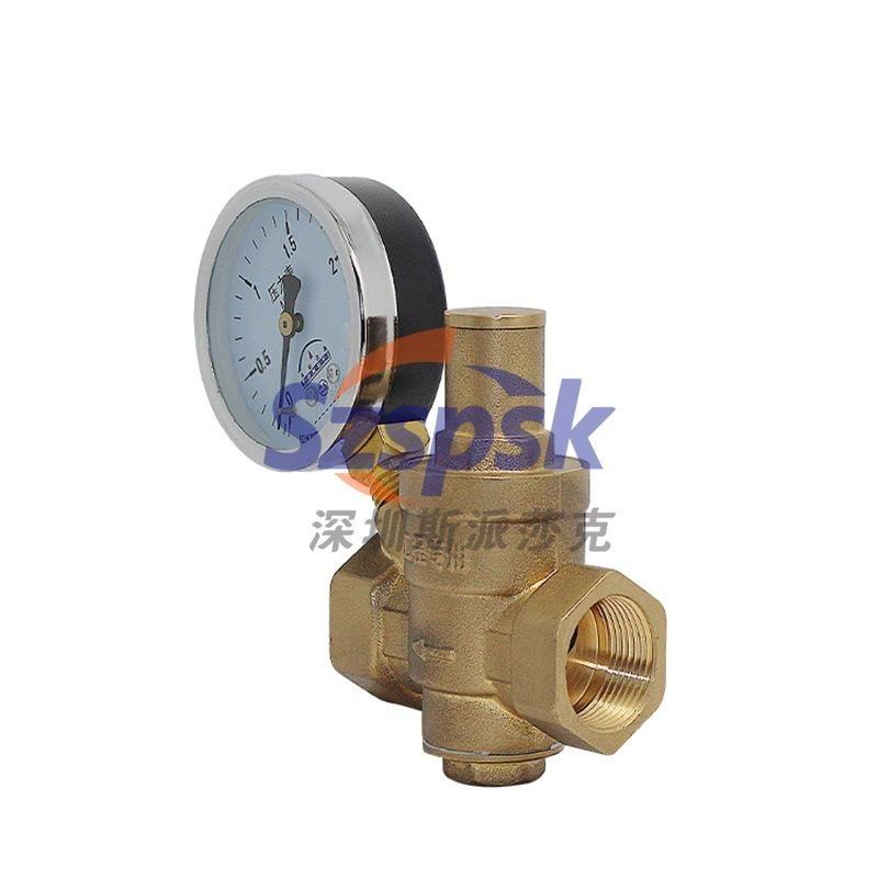 全黄铜丝扣螺纹带表水用减压阀 Y11X-16T DN15 20 32 DN50