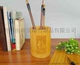精品11仿古青銅紋筆筒桌面收納擺件多功能辦公筆筒老楠竹雕刻筆筒