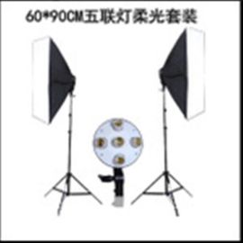 五联灯60*90CM柔光箱套装 摄影棚灯具人像服装拍摄摄影器材
