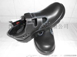 东鹏牌黑色防砸安全鞋,耐酸碱,耐油防滑,夏天透气型\防砸凉鞋