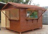 城市街道报亭 彩票售卖亭 固定实木售货车 木质小摆件售卖车