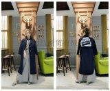 品牌折扣连衣裙贝克华菲双面羊绒大衣货源市场哪家好