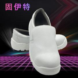 黑白超纤劳保鞋,防静电防滑工作鞋,无尘车间防护鞋